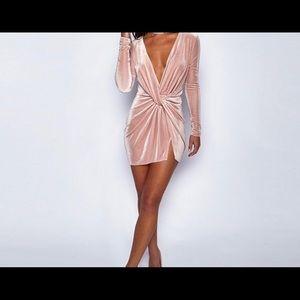 Party dress-Pink Chiffon